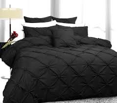 image of black ruched bedding