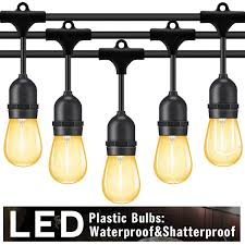 Heavy Duty String Lights Details About Outdoor String Lights Led 48 Ft Waterproof Commercial Grade Heavy Duty