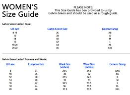 Galvin Green Size Chart Uk Galvin Green Briony Ladies Windstoppers