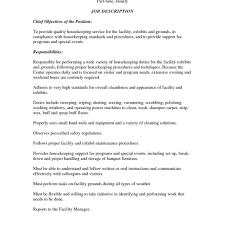 Housekeeping Resume Template Create My Resume Housekeeping