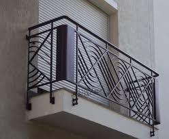 Wrought iron railings, balustrades, handrails