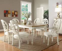 white dining table and chairs set deentight Dining Room Table And
