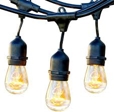 Industrial String Lights Brightech Ambience Pro Waterproof Outdoor String Lights Hanging Industrial 11w Edison Bulbs 48 Ft Vintage Bistro Lights Create Great Ambience