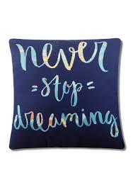 Elise \u0026 James Home™ Wayfair Never Stop Dreaming Decorative Pillow ...