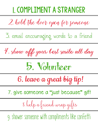 acts of kindness christmas countdown calendars printables  acts of kindness christmas calendar