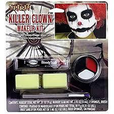 fancy face paint color kids scary clown makeup kit