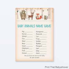 Free Baby Shower GameBaby Name Games For Baby Shower