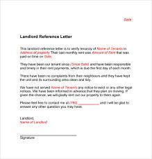 Tenancy Landlord Reference Letter