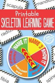 skeleton printable game free kids printable science lessonsscience