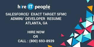 Salesforce Exact Target Sfmc Admin Developer Resume
