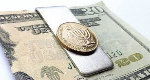 israel jewish menorah money clip bar mitzvah gift hebrew men s wallet coin money clip men s accessory coin men s gifts hanukkah