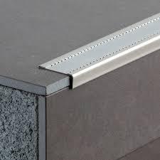 stainless steel edge trim for tiles outside corner stair nosing eurostep 260s
