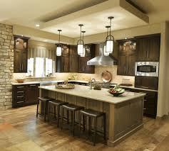 Image result for kitchen subway tiles dark wood cabinets modern