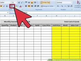 How To Do An Inventory List Create An Inventory List In Excel Cost Of Goods List