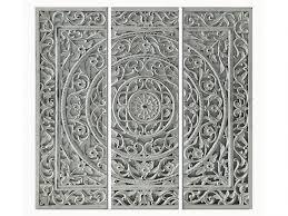 cuadro tríptico de madera relief