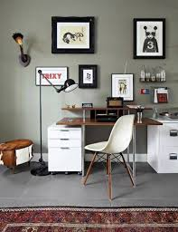 home office wall. Elegant Gray Home Office Wall Colors Plus Framed Art In Grey Color As Wells E