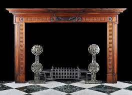 carved anrtique walnut adam fireplace mantel