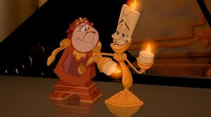 the costume of the candlestick in the animated cartoon the beauty and the beast