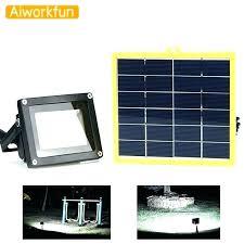battery powered led flood lights light solar outdoor waterproof spotlight lamp operated ligh
