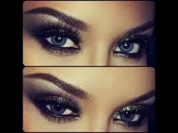 y black smokey cat eye make up tutorial