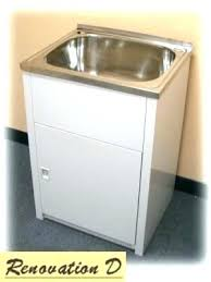 Laundry Sink Cabinet Tub Stainless Steel With Decoration Ideas Deep Utility  U45