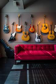 hang guitar in the wall decorate