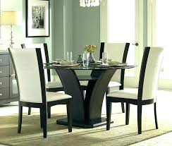 espresso dining room set black round dining table and chairs daisy espresso glass round dining table