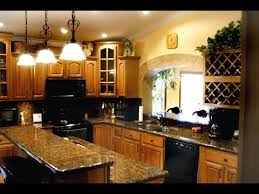 Dark Kitchen Cabinets With Light Granite Impressive Honey Oak Kitchen Cabinets With Granite Countertops YouTube