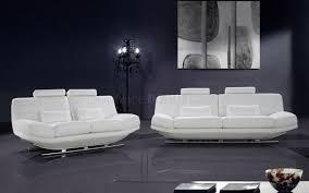 Leather Living Room Set Modern Full Italian Leather 3pc Living Room Set Viper White