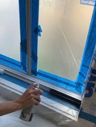 how to spray paint your windows black