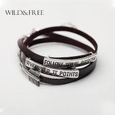 other vintage uni multilayer brown leather bracelets for women