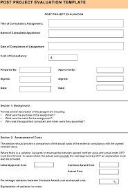 8 Sample Project Evaluation Templates Free Download