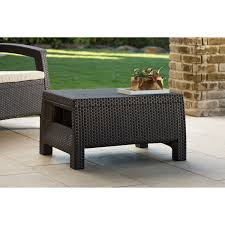 round wicker coffee table with storage
