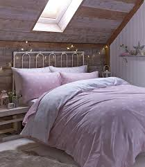 catherine lansfield brushed polka double duvet set pink co uk kitchen home