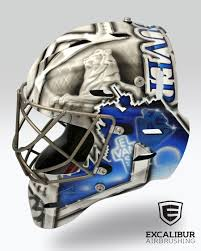 love this city goalie mask designed and airbrushed by ian johnson