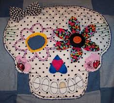 221 best Day of the dead images on Pinterest | Sugar skulls, Skull ... & Day of the dead sugar skull Sugar skull Fabric by handmadeink, $50.00 Adamdwight.com