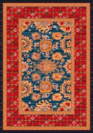 milliken pastiche karshi blue grey rug