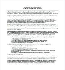 Free Standard Confidentiality Agreement Template Student For Resume ...