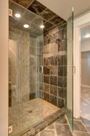 Monumental Mosaic Bathroom Tiles Ideas With Unique Design For The Shower  Tray And As Accent On
