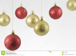 hanging christmas ornaments background. Modren Christmas Red And Gold Hanging Christmas Decorations On White Background Throughout Ornaments
