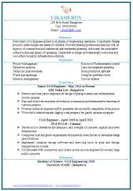 Best Ideas of Sample Resume For Civil Engineer Fresher With Template