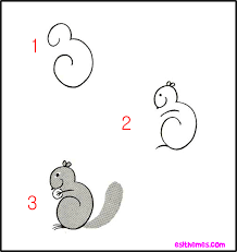 Small Picture KK10 STEPS TO DRAW A SQUIRREL drawing Pinterest Draw