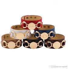 2019 monogram leather bracelet fashion jewelry gold plated pulseras 3 row multicolor leather cuff bracelet for women men from weled 1 59 dhgate com