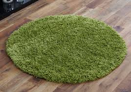 new lime green 110x110cm round rug 5cm thick non shed best quality circle rugs
