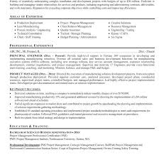 Sample Project Management Resume It Project Manager Free Resume