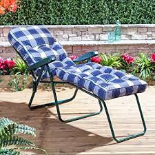 alfresia garden sun lounger green adjule multi position foldable frame with clic cushion in choice