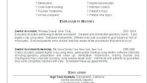 dental assistant resume objectives resumes for dental assistants assistant student resume skills