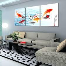 fish wall art 3 piece fish wall art painting wall art on canvas home decor modern