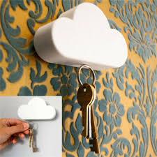 novelty key holder hanger white