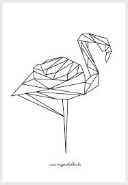 Free Printable Geometric Flamingo Color Version T L Chargement